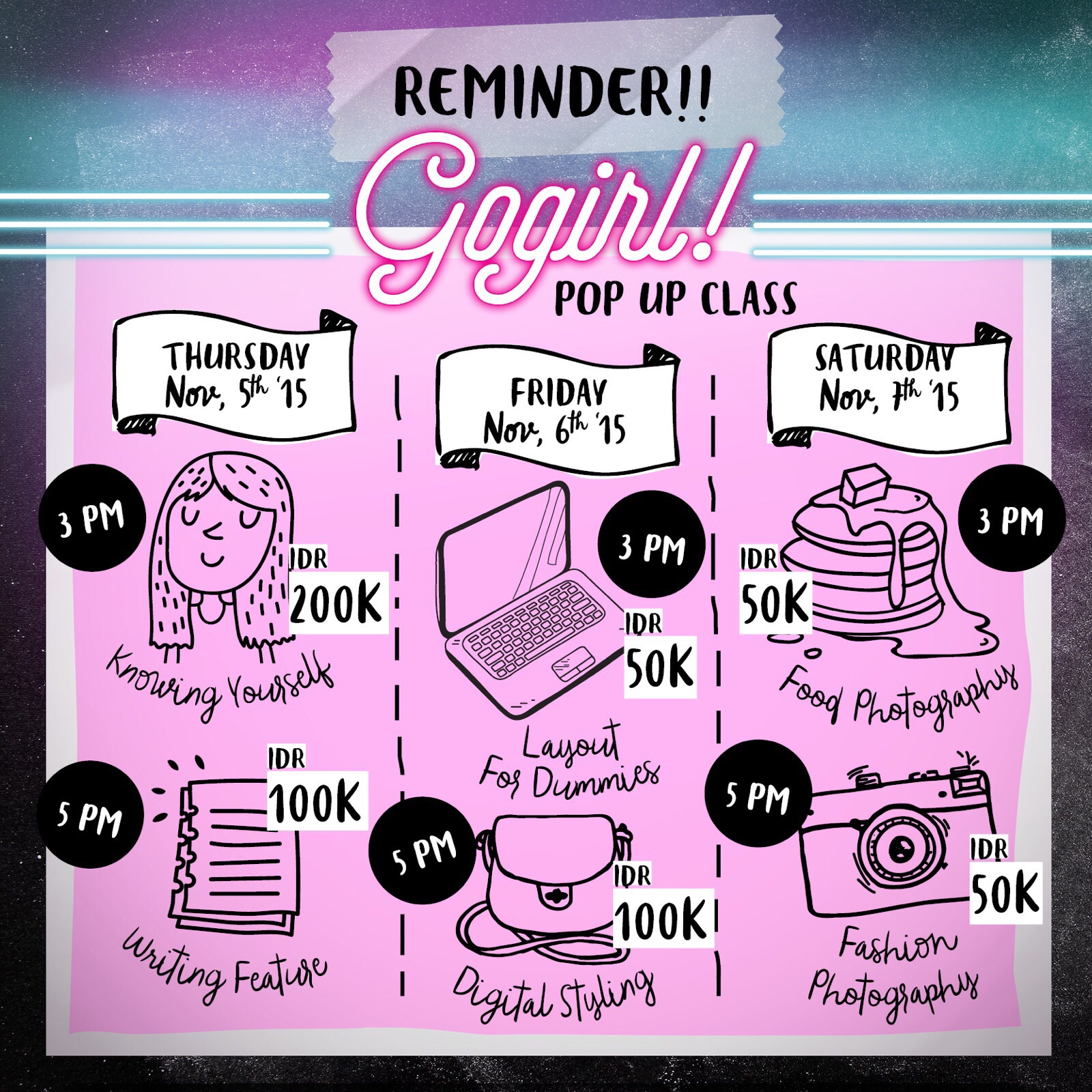 reminder gogirl