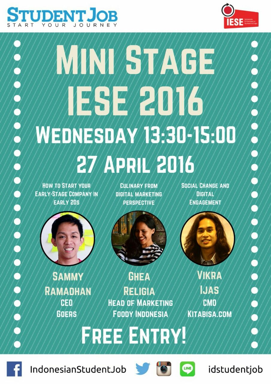 Mini Stage IESE Student Job Rabu 27