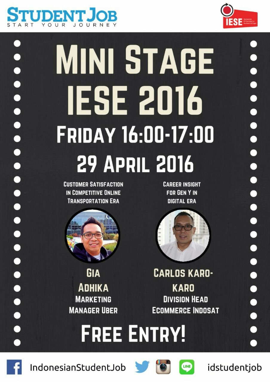 mini stage iese jumat 29 april